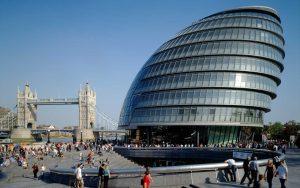 London City Hall with London Bridge